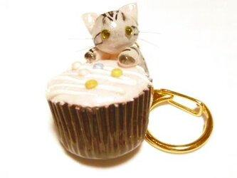 にゃんこのしっぽ○カップチョコにゃんこ○キーホルダー○猫○アメリカンショートヘア1の画像