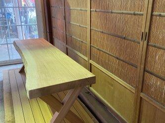 ☆杉1枚板ベンチ ✖️脚素敵 サイズオーダー承ります☆の画像