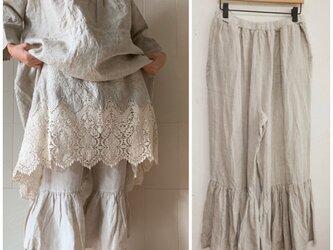 裾フリルインナーパンツ(リネン生成)の画像