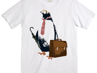 [Tシャツ] business penguinの画像