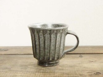 しのぎ手コーヒーカップ(わら灰)の画像
