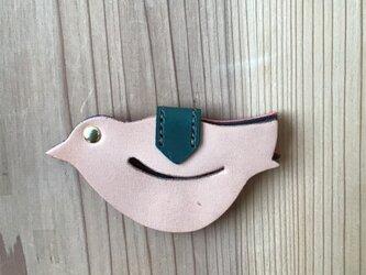 トートクリップ bird leatherマルチナチュラルの画像