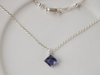 silver925 アイオライトのダイヤ型ペンダントの画像