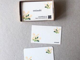 ミモザの名刺 ショップカード アクセサリー台紙 50枚の画像