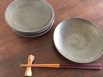 灰釉5寸皿の画像