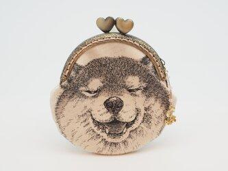 気持ち華やぐがま口ポーチ・コインケース(口金8.5センチ)柴犬2の画像