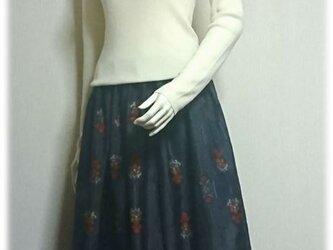 167 大島紬リメイク持続可能スカートの画像