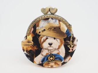 気持ち華やぐがま口ポーチ・コインケース(口金8.5センチ)カッコイイ犬3の画像