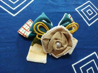古布・沖縄伝統的織物バレッタ「つくよみ」の画像