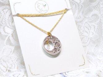 ムーンライトネックレス 〜ペーパークイリングの軽いネックレス〜の画像