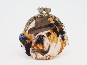 気持ち華やぐがま口ポーチ・コインケース(口金8.5センチ)カッコイイ犬5の画像
