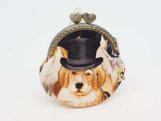 気持ち華やぐがま口ポーチ・コインケース(口金8.5センチ)カッコイイ犬6の画像