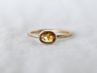 Honey brown diamond ringの画像