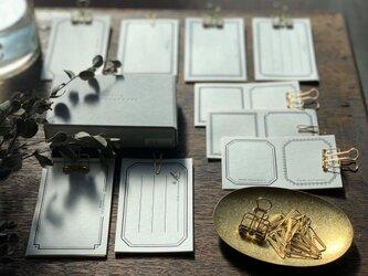 【活版印刷】 LETTERPRESS sticker BOX ブラック(72枚入り)の画像