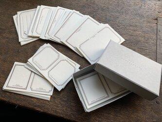 【活版印刷】 LETTERPRESS sticker BOX ブロンズ(72枚入り)の画像