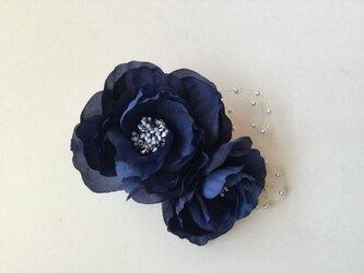 再販パール付きブルー薔薇(2)の画像