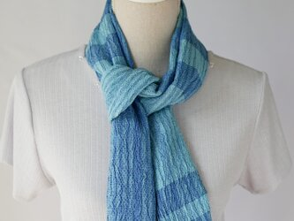 草木染め 手織りシルクストール ST17の画像