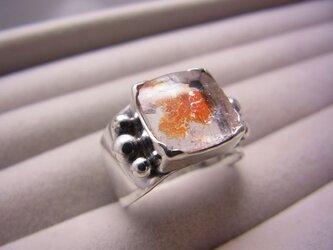 ヘマタイトインクオーツのリングの画像
