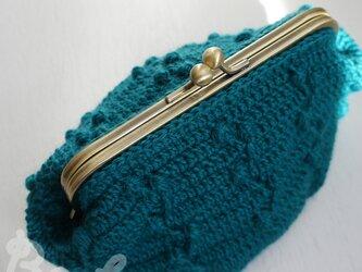ばあば作、さらに大きめ・模様編みのがま口(Treenut・C1294)の画像