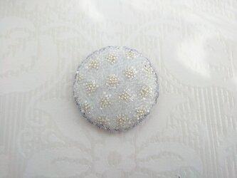 刺繍ブローチ 冬晴 2の画像