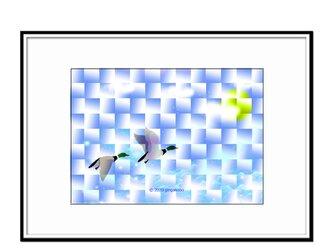 「永い旅路~深空へ~」 ほっこり癒しのイラストA4サイズポスター   No.720の画像