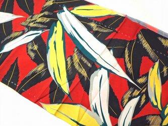 s0049 笹文様 ハギレ 150cm/ 古布・古裂 錦紗 縮緬 正絹 japanese fablic silkの画像