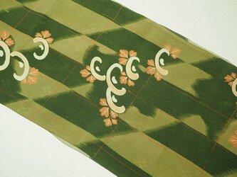 s0051 花文様 ハギレ 120cm/ 古布・古裂 錦紗 縮緬 正絹 japanese fablic silkの画像