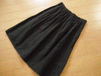 リネンのペチコート 黒の画像