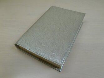 ゴートスキン・文庫本サイズ・スムースシュリンク・一枚革のブックカバー0407の画像