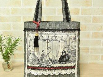 ロココ風◆貴婦人◆ヴィクトリアン◆タッセル付きトートバッグ♪の画像