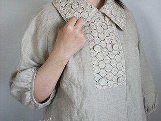 [予約販売] ヨーロッパリネンサークル刺繍Wジャケット **卒園 卒業式 入学式 フォーマル 冠婚葬祭 ブライダルの画像