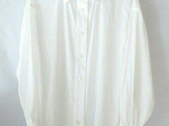 コットン楊柳のシャツ 白の画像