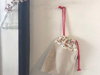 通園グッズ♪乗り物柄の巾着袋(BA-042)の画像