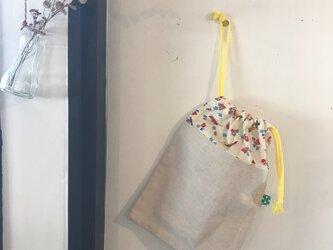 通園グッズ☆乗り物柄の巾着袋(BA-041)の画像