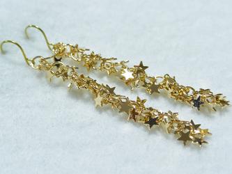 ゴールドチタンピアス・星くずラインの画像