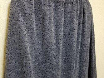 sale    わたぼうし* ロング スカート   ブルーグレーの画像