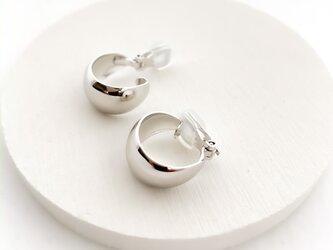 bow line hoop pierces/earrings L n540の画像