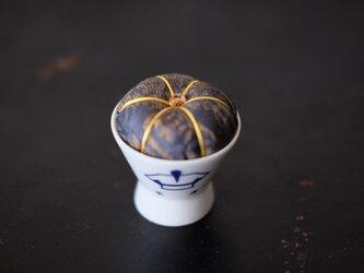 アンティークキモノ針山ー柔道/KIMONO Pincushionの画像