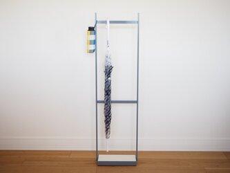 【コンパクトサイズ】umbrella stand(珪藻土),アイアン傘スタンド(グレー)の画像