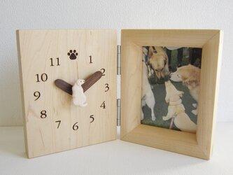 ラブラドールレトリバー置き時計・写真立ての画像