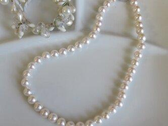 【大きな9mmパール】あこや真珠ネックレス MN0220-003の画像