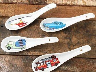 乗り物 ミニれんげ 4タイプ キッズ ★ 車 ヘリコプター 消防車 約12.5cm 男の子 鍋料理 スイーツにの画像