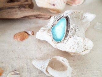 【14号】seaglass ring silver925の画像