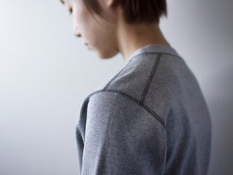 miranoribu cotton/ henley neck cutsew /grayの画像