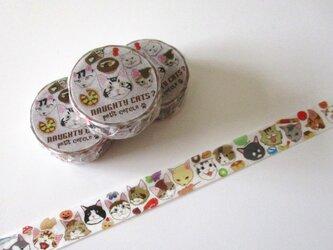 ★SALE★猫さんいっぱいマスキングテープ(たべもの)の画像