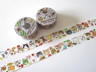 ★SALE★猫さんいっぱいマスキングテープセットの画像