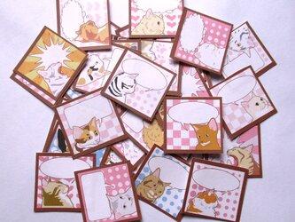 猫ふきだシール(ちょっとアメコミ)の画像
