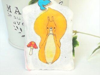 リスときのこ ラベンダー サシェ ストラップ(北海道 ラベンダーの香り)の画像