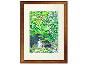 世界で1枚の絵 水彩画原画「中津渓谷」の画像