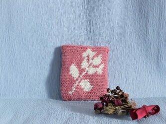【アルファベットを選べます】薔薇のポーチの画像